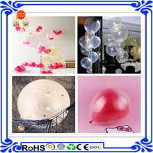 2015 hot sale in e Bay transparent balloon round latex balloons apple shape balloons