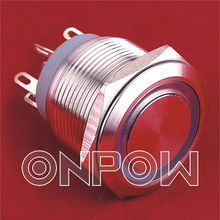 ONPOW 22mm metal push on micro switch(GQ22-11WE series,CE,CCC,ROHS,IP67)