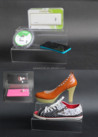High quality clear acrylic shoe display case wholesale tiers plexiglass shoe stand