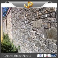 Green quartz fire resistant exterior cultured stacked stone