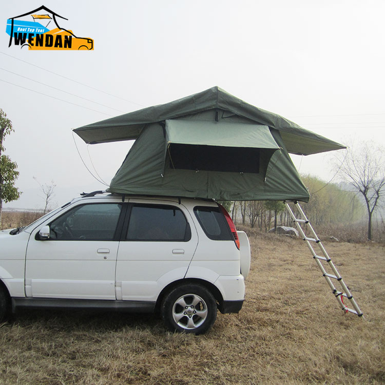 Camping Outdoor gear Aluminum alloy structure soft roof tent for car