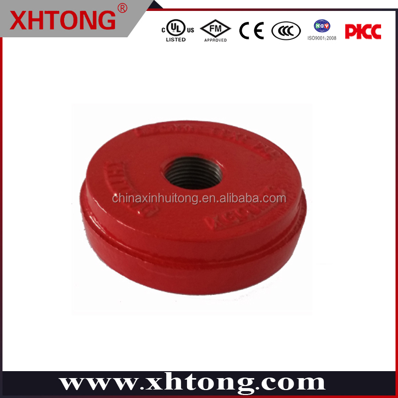 Factory manufacture casting iron fire fighting end cap with concentric hole