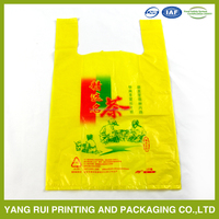 hot biodegradable Thank You bag biodegradable plastic food packaging 100% biodegradable plastic bag