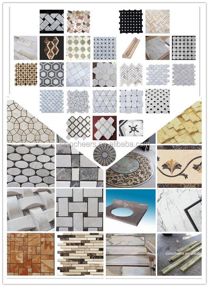 indoor decoration wall tiles white marble mosaic