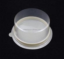 Custom Blister Plastic Disposable Round Small Cheese Cake Conatiner/Dessert Mousse Box Packaging