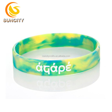 2018 New popular product colorful amazing gift event swirl silicone bracelet wristband
