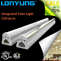 2016 new product integrated round 1.5m led tube shop lights