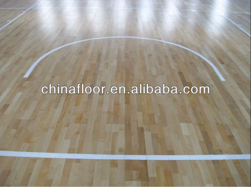 Basketball Court Maple Wood Flooring From China
