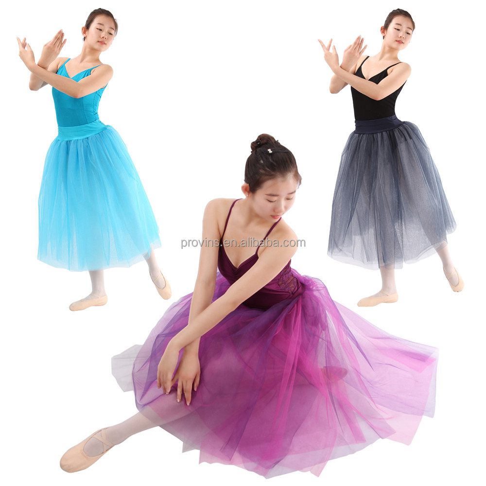 Hot Sale Fashionable Five Layers Half Long Ballet Stage Performance Tutu Skirts Adult Girls
