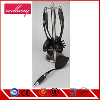 Kitchen Utensils Sets - Home Cooking Tools- Stainless Steel & Nylon Gadgets- Turners, Tongs, Spatulas, Pizza Cutter