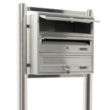 Free standing 304 Stainless Steel outdoor mailboxes for apartments 10 boxes