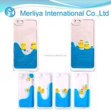 Liquid Floating Water Swimming Rubber Duck Hard Case For iPhone 6 6s Plus 5 5s