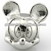 Stainless steel mickey mouse beads