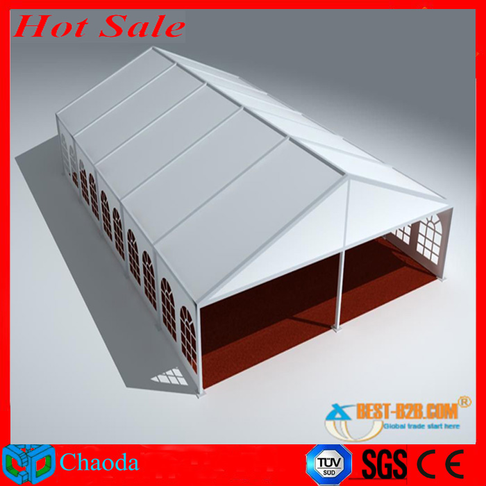 Hot sale aluminum CE,SGS and TUV cetificited cheap wedding party tents large outdoor restaurant tent