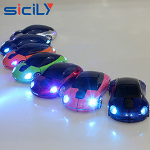 Hot selling LED light Custom Printed Wireless Optical Car Shape USB Computer Mouse