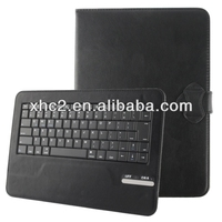 Universal Bluetooth 3.0 ABS Keyboard + Detachable Leather Case with Holder for iPad Air