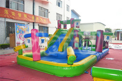 Commercial inflatable water slide with pool for outdoor