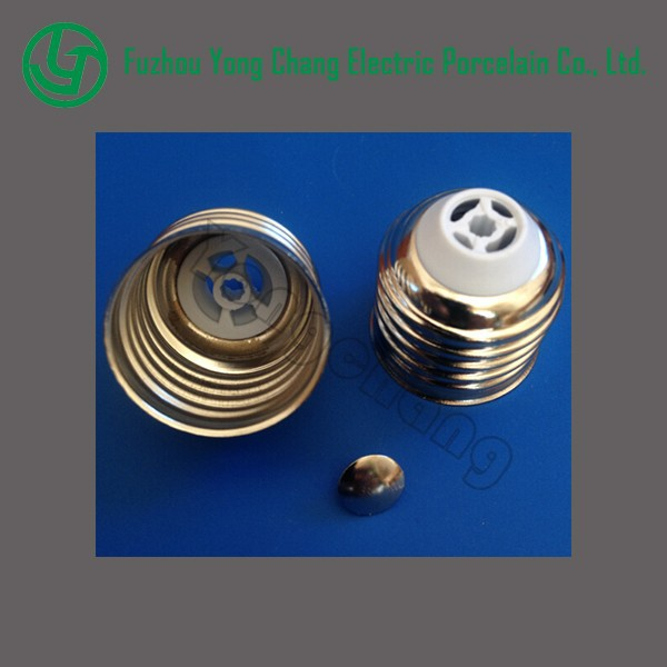 Nickel-brass welding free lamp cap E27 light cap
