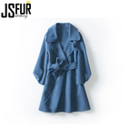 Best-selling Fashion Slim Women Handmade Wool Coat
