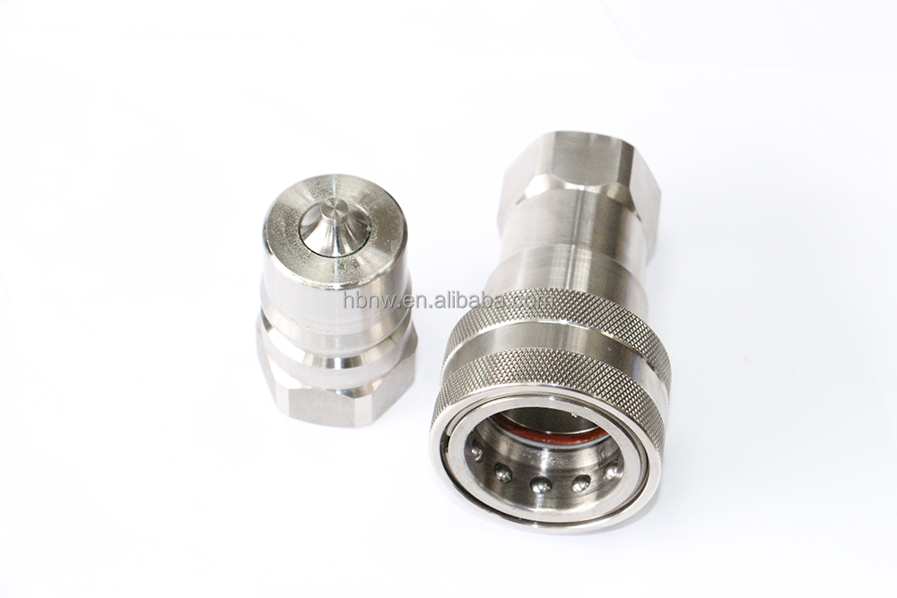 ISO 7241B pipe ball joint 1/4 bsp to npt threaded plug high voltage connector