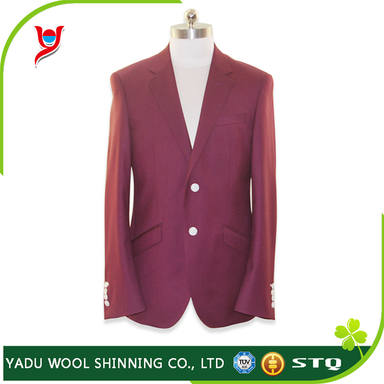 New Style wine color suit, two button men suit, slim fit woman's suits
