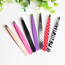 best cosmetic stainless steel slant eyebrow tweezers