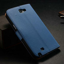 New products 2013 functional design genuine leather flip wallet unique phone cases for samsung galaxy note 2