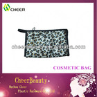 Wholesale satin style clear cosmetic travel bag for lady