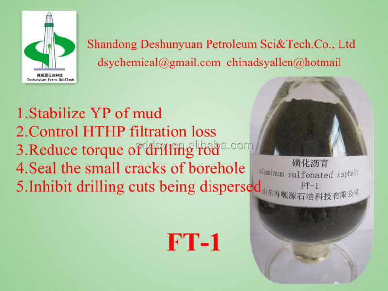 Water base drilling mud chemical High acid soluble sulfonated asphalt shale stabilizer