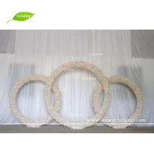 GNW FLWA1707003 White artificial flower making wedding stage decoration with flowers