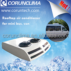 Engine driven automobile air conditioning for van