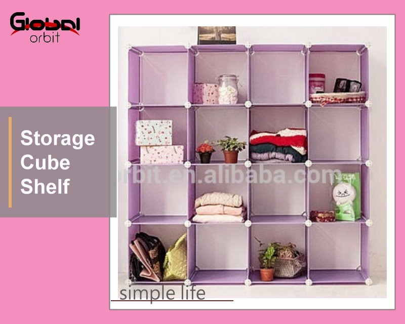 DIY Home Space Saver Holder Organizer Plastic Cubes Storage Box Shelf