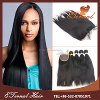 Cheap remy hair wholesale 100% virgin brazilian human hair 16 inch full lace closure