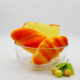 Heat resistant glass bowl for microwave oven decorative fruit bowl set