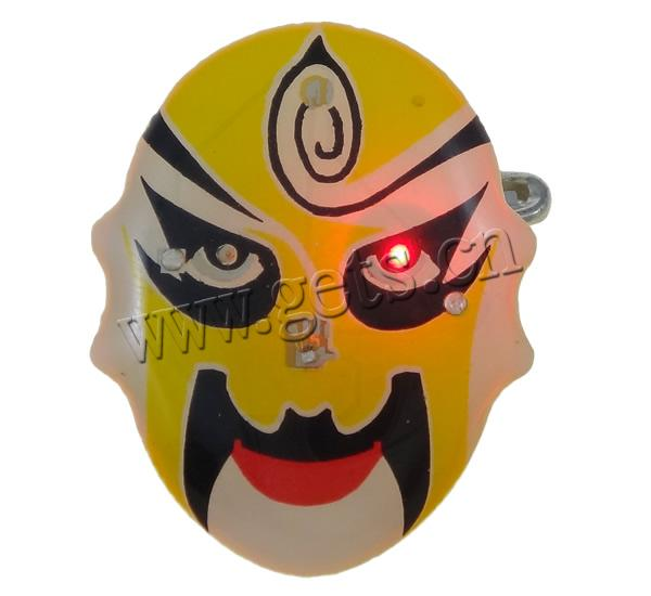 Resin Beijing Opera Mask Yellow face 792661