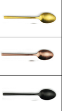 gold and rose gold plated dessert spoon,black dessert spoon(total 60pcs)