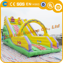 Colorful inflatable dry slide,giant inflatable slide,inflatable slip and slide