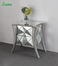 Leatest innovation Design Charming Hot Sale Mirrored Narrow Drawers Chest Furniture