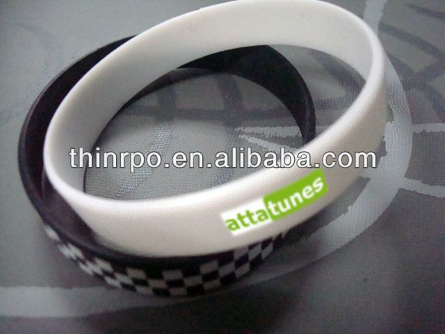 Popular Silicone Rubber UV Sensitive Bracelet/ Change Color wristband