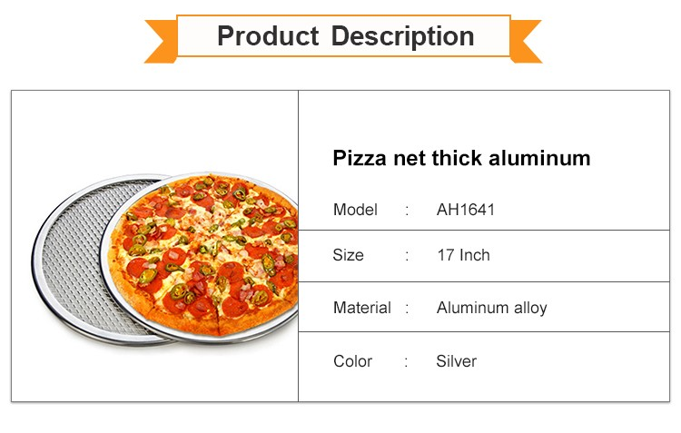 Top Grade Aluminum Round Stainless Steel Pizza Screen Net