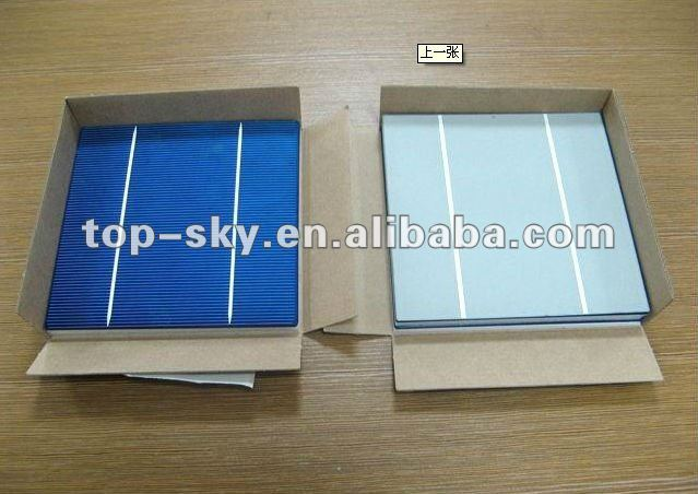 2016 best selling brand new high efficiency 156x156mm PV solar energy cell low price triple junction solar cell