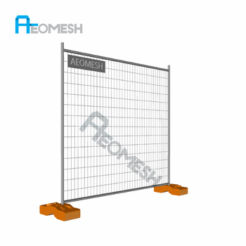 Guangzhou Factory 6ft temporary fencing panels Welded outdoor temporary fencing