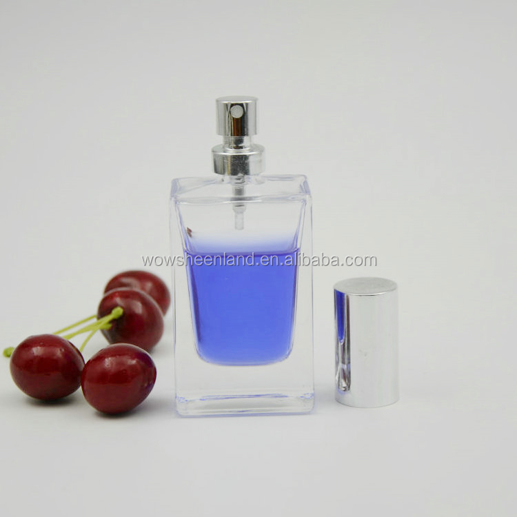 2017 Wholesale 1oz 30ml clear square glass spray perfume <strong>bottle</strong>
