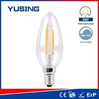 C35 Filament Candle Bulb Dimmable 4W High Lumen LED E14 Bulb