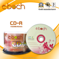CD Blank CD-R 52X with 3 color pringting Customized OEM
