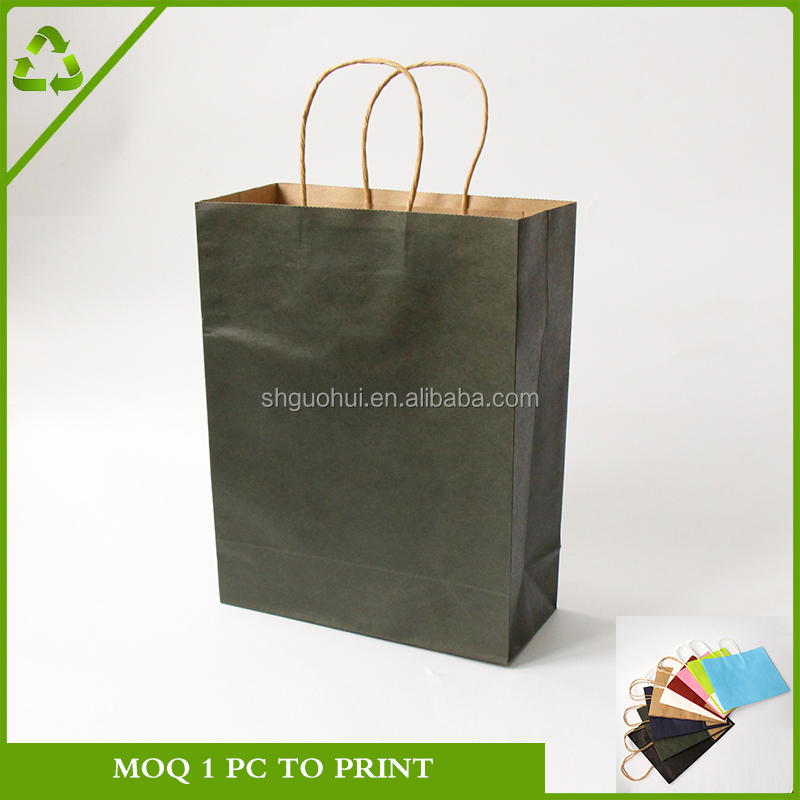 Square bottom shopping gift paper bag, Shoes paper bag, Small paper bags with logo