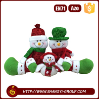 hot sale factory price stuffed snowman christmas decoration craft for kids