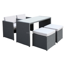 All Weathe PE Synthetic Resin Poly Rattan Patio Outdoor Wicker High Dining Bar Set Furniture