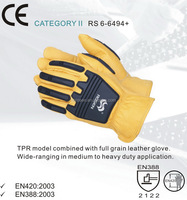 RS SAFETY Hard knuckle gloves in impact Finger protection work glove for heavy duty rubber gloves