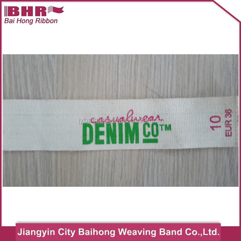 Multifunctional cotton tape printed woven labels for clothing